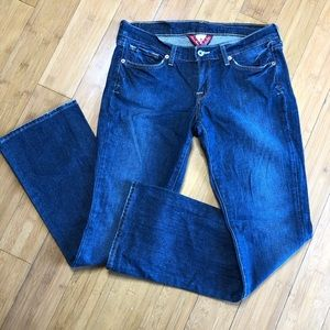 NWOT Lucky Brand Zoe Boot Jeans blue 8/29 Short